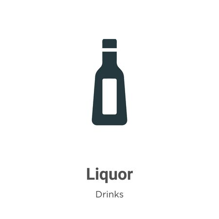 Liquor vector icon on white background. Flat vector liquor icon symbol sign from modern drinks collection for mobile concept and web apps design.