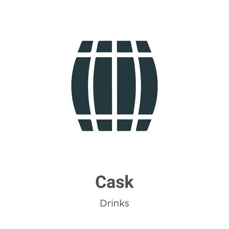 Cask vector icon on white background. Flat vector cask icon symbol sign from modern drinks collection for mobile concept and web apps design.