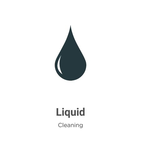 Liquid vector icon on white background. Flat vector liquid icon symbol sign from modern cleaning collection for mobile concept and web apps design.