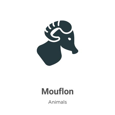 Mouflon vector icon on white background. Flat vector mouflon icon symbol sign from modern animals collection for mobile concept and web apps design.