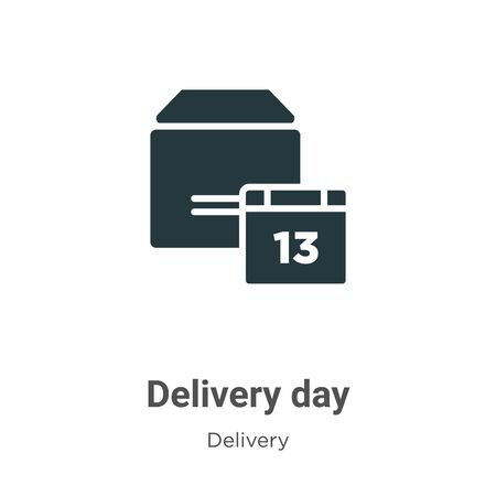 Delivery day vector icon on white background. Flat vector delivery day icon symbol sign from modern delivery collection for mobile concept and web apps design.