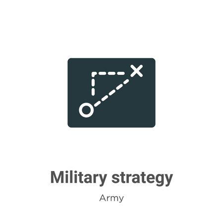 Military strategy vector icon on white background. Flat vector military strategy icon symbol sign from modern army collection for mobile concept and web apps design.