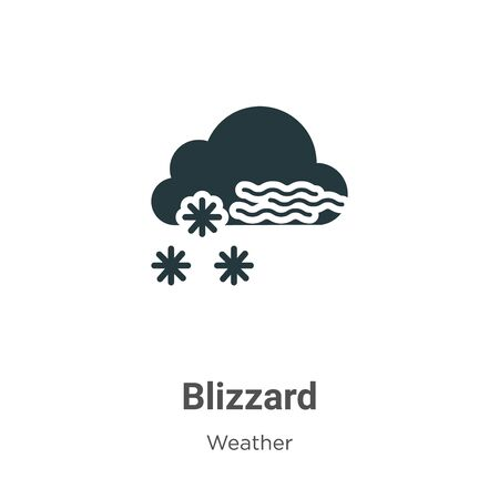 Blizzard vector icon on white background. Flat vector blizzard icon symbol sign from modern weather collection for mobile concept and web apps design. 向量圖像