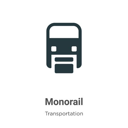 Monorail vector icon on white background. Flat vector monorail icon symbol sign from modern transportation collection for mobile concept and web apps design.