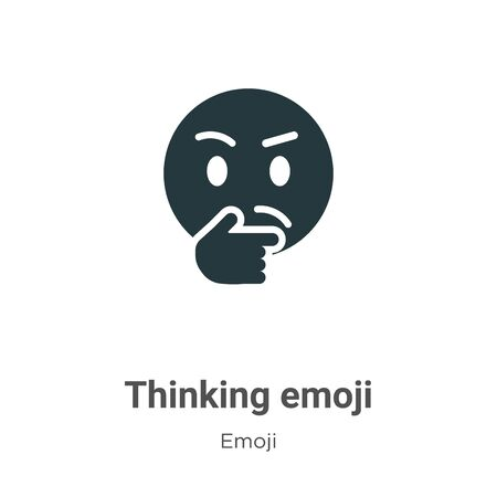 Thinking emoji vector icon on white background. Flat vector thinking emoji icon symbol sign from modern emoji collection for mobile concept and web apps design. Иллюстрация