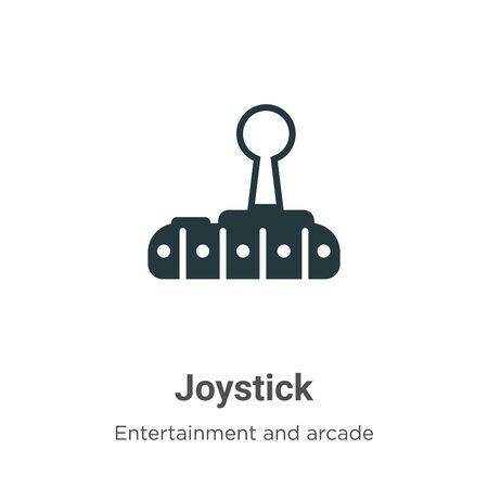 Joystick vector icon on white background. Flat vector joystick icon symbol sign from modern entertainment and arcade collection for mobile concept and web apps design.
