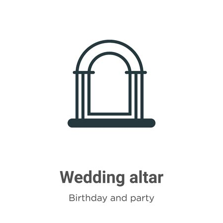 Wedding altar vector icon on white background. Flat vector wedding altar icon symbol sign from modern birthday and party collection for mobile concept and web apps design.