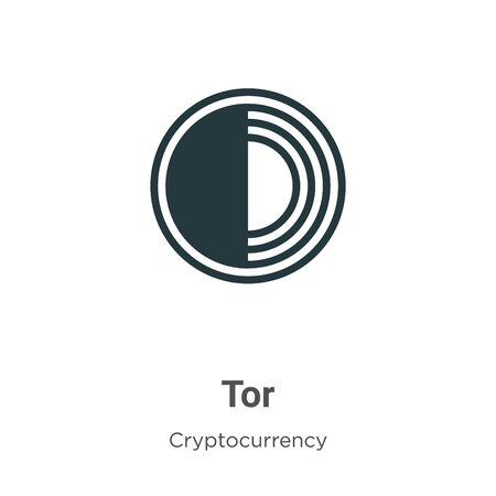 Tor vector icon on white background. Flat vector tor icon symbol sign from modern cryptocurrency collection for mobile concept and web apps design.