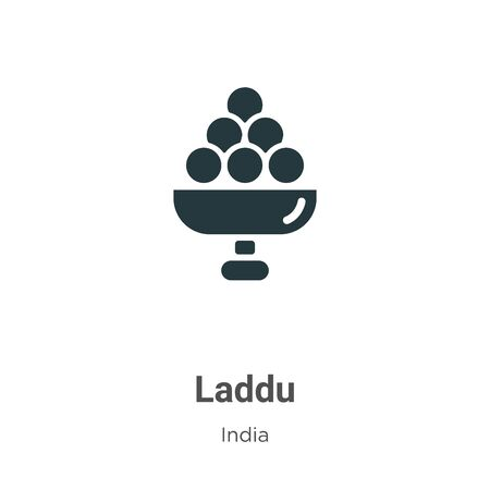 Laddu vector icon on white background. Flat vector laddu icon symbol sign from modern india collection for mobile concept and web apps design. Stock Vector - 142512253
