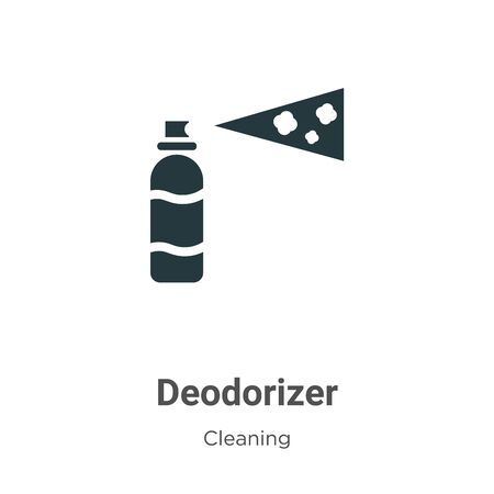Deodorizer vector icon on white background. Flat vector deodorizer icon symbol sign from modern cleaning collection for mobile concept and web apps design.
