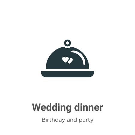 Wedding dinner vector icon on white background. Flat vector wedding dinner icon symbol sign from modern birthday and party collection for mobile concept and web apps design. Imagens - 142512275