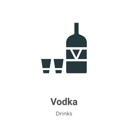 Vodka vector icon on white background. Flat vector vodka icon symbol sign from modern drinks collection for mobile concept and web apps design.