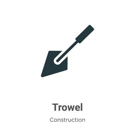 Trowel vector icon on white background. Flat vector trowel icon symbol sign from modern construction collection for mobile concept and web apps design. Ilustração
