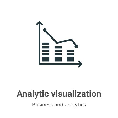 Analytic visualization vector icon on white background. Flat vector analytic visualization icon symbol sign from modern business and analytics collection for mobile concept and web apps design. Illustration