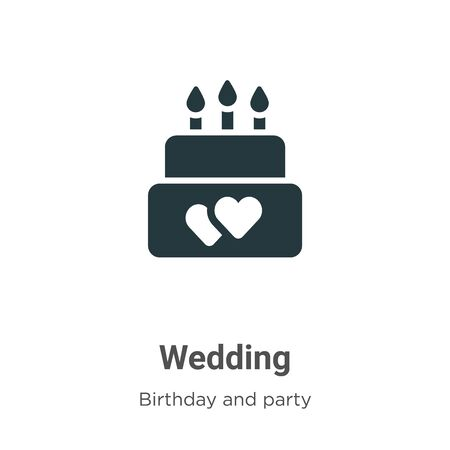 Wedding vector icon on white background. Flat vector wedding icon symbol sign from modern birthday and party collection for mobile concept and web apps design. Imagens - 142512366
