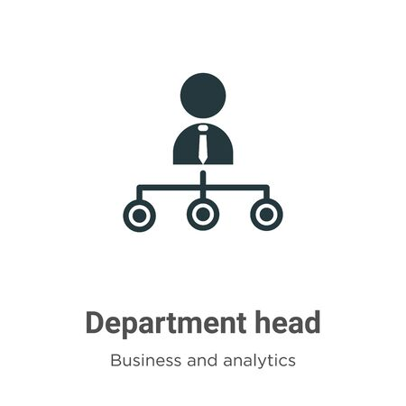 Department head vector icon on white background. Flat vector department head icon symbol sign from modern business and analytics collection for mobile concept and web apps design.