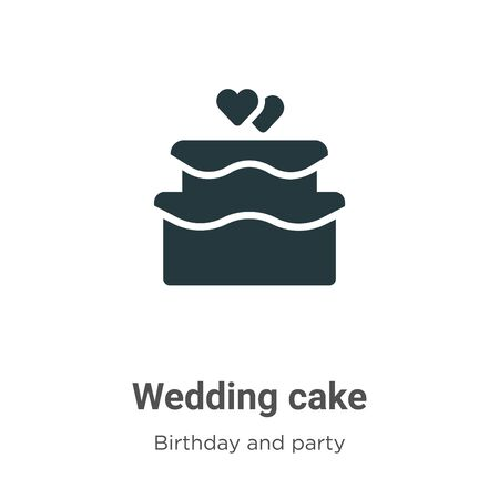 Wedding cake vector icon on white background. Flat vector wedding cake icon symbol sign from modern birthday and party collection for mobile concept and web apps design. Imagens - 142512588
