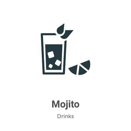 Mojito vector icon on white background. Flat vector mojito icon symbol sign from modern drinks collection for mobile concept and web apps design.