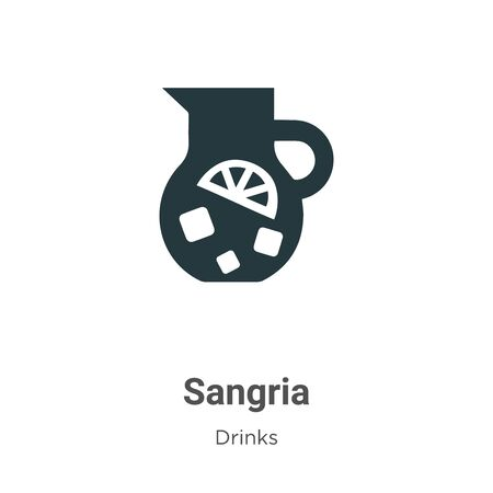 Sangria vector icon on white background. Flat vector sangria icon symbol sign from modern drinks collection for mobile concept and web apps design.