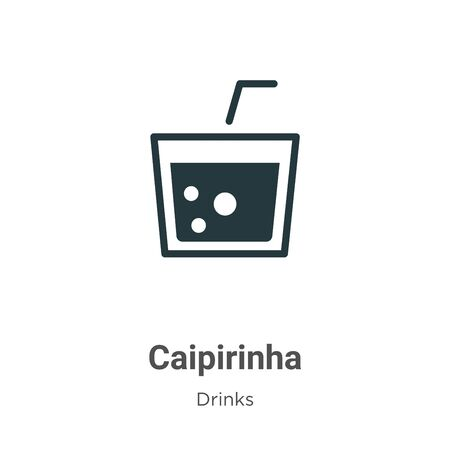 Caipirinha vector icon on white background. Flat vector caipirinha icon symbol sign from modern drinks collection for mobile concept and web apps design.