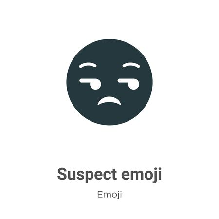 Suspect emoji vector icon on white background. Flat vector suspect emoji icon symbol sign from modern emoji collection for mobile concept and web apps design.