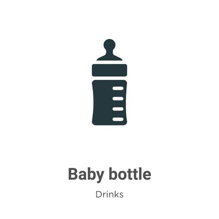 Baby bottle vector icon on white background. Flat vector baby bottle icon symbol sign from modern drinks collection for mobile concept and web apps design.