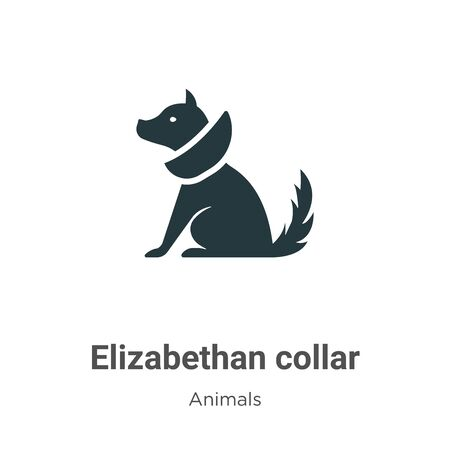 Elizabethan collar vector icon on white background. Flat vector elizabethan collar icon symbol sign from modern animals collection for mobile concept and web apps design.