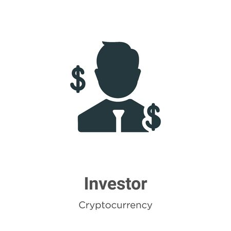 Investor vector icon on white background. Flat vector investor icon symbol sign from modern cryptocurrency collection for mobile concept and web apps design. Illustration