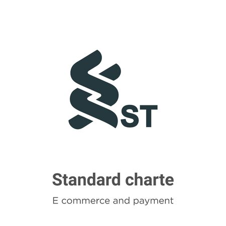 Standard chartered vector icon on white background. Flat vector standard chartered icon symbol sign from modern e commerce and payment collection for mobile concept and web apps design.