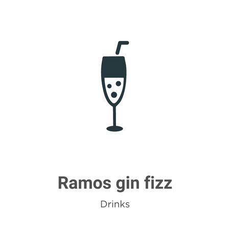 Ramos gin fizz vector icon on white background. Flat vector ramos gin fizz icon symbol sign from modern drinks collection for mobile concept and web apps design.