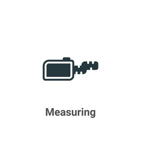 Measuring vector icon on white background. Flat vector measuring icon symbol sign from modern sew collection for mobile concept and web apps design.