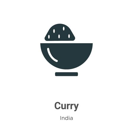 Curry vector icon on white background. Flat vector curry icon symbol sign from modern india collection for mobile concept and web apps design. Archivio Fotografico - 142514097