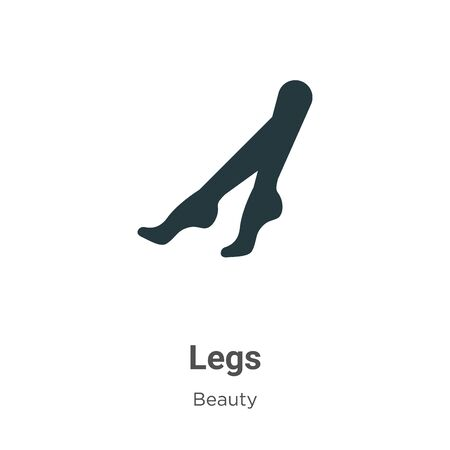 Legs vector icon on white background. Flat vector legs icon symbol sign from modern beauty collection for mobile concept and web apps design. Banque d'images - 142514124