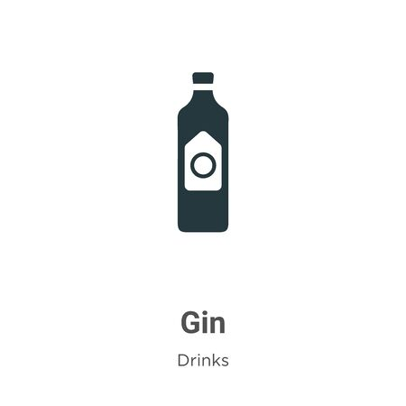 Gin vector icon on white background. Flat vector gin icon symbol sign from modern drinks collection for mobile concept and web apps design.