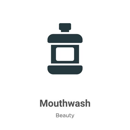 Mouthwash vector icon on white background. Flat vector mouthwash icon symbol sign from modern beauty collection for mobile concept and web apps design.