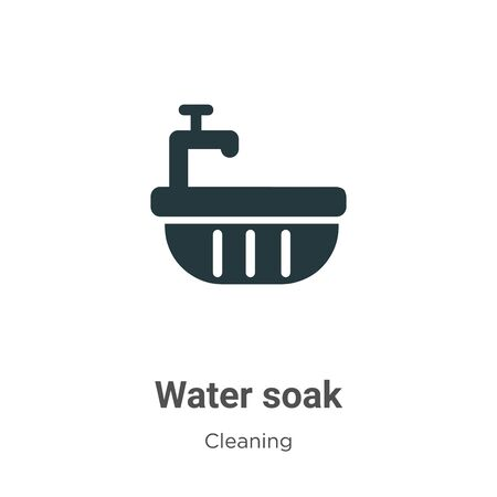 Water soak vector icon on white background. Flat vector water soak icon symbol sign from modern cleaning collection for mobile concept and web apps design.