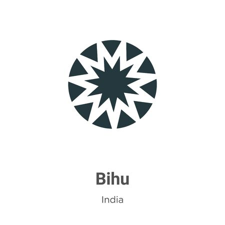 Bihu vector icon on white background. Flat vector bihu icon symbol sign from modern india collection for mobile concept and web apps design.