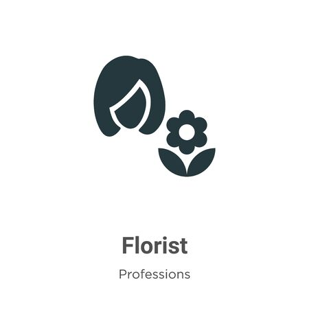 Florist vector icon on white background. Flat vector florist icon symbol sign from modern professions collection for mobile concept and web apps design. Illustration