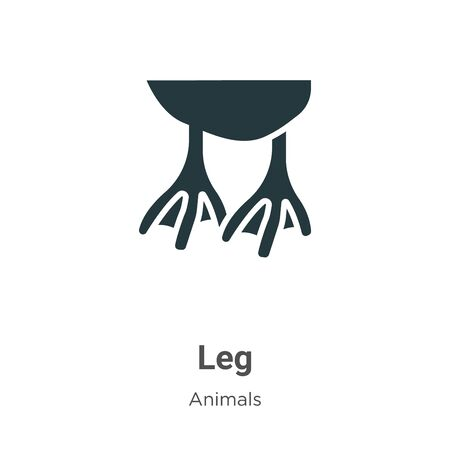 Leg vector icon on white background. Flat vector leg icon symbol sign from modern animals collection for mobile concept and web apps design. Banque d'images - 142516001