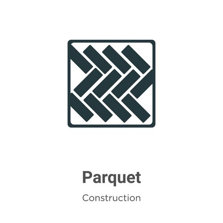 Parquet vector icon on white background. Flat vector parquet icon symbol sign from modern construction collection for mobile concept and web apps design.