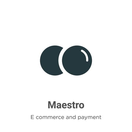 Maestro vector icon on white background. Flat vector maestro icon symbol sign from modern e commerce and payment collection for mobile concept and web apps design.