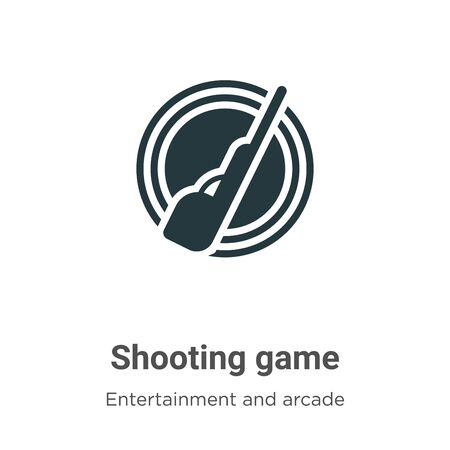 Shooting game vector icon on white background. Flat vector shooting game icon symbol sign from modern entertainment and arcade collection for mobile concept and web apps design.