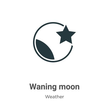 Waning moon vector icon on white background. Flat vector waning moon icon symbol sign from modern weather collection for mobile concept and web apps design.