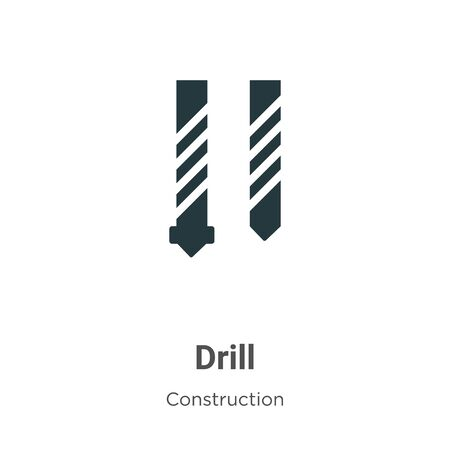 Drill vector icon on white background. Flat vector drill icon symbol sign from modern construction collection for mobile concept and web apps design.