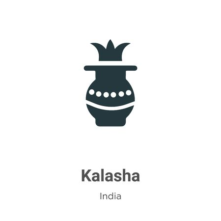 Kalasha vector icon on white background. Flat vector kalasha icon symbol sign from modern india collection for mobile concept and web apps design.