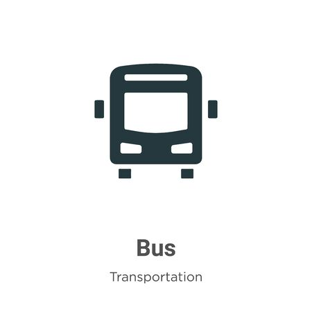 Bus vector icon on white background. Flat vector bus icon symbol sign from modern transportation collection for mobile concept and web apps design.