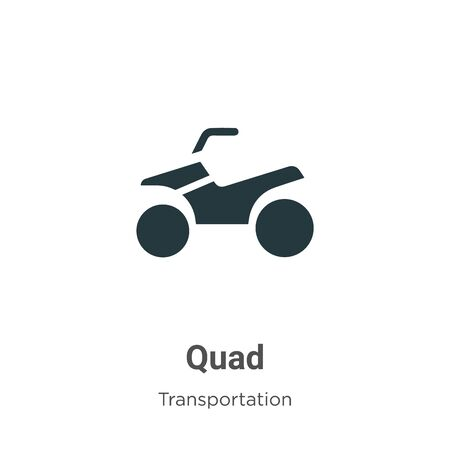 Quad vector icon on white background. Flat vector quad icon symbol sign from modern transportation collection for mobile concept and web apps design. Illustration