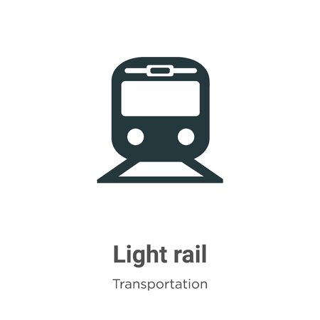 Light rail vector icon on white background. Flat vector light rail icon symbol sign from modern transportation collection for mobile concept and web apps design.