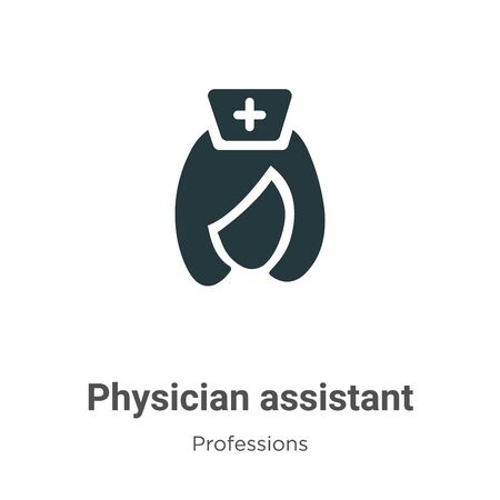 Physician assistant vector icon on white background. Flat vector physician assistant icon symbol sign from modern professions collection for mobile concept and web apps design. Zdjęcie Seryjne - 142516867