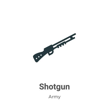Shotgun vector icon on white background. Flat vector shotgun icon symbol sign from modern army collection for mobile concept and web apps design. Vecteurs